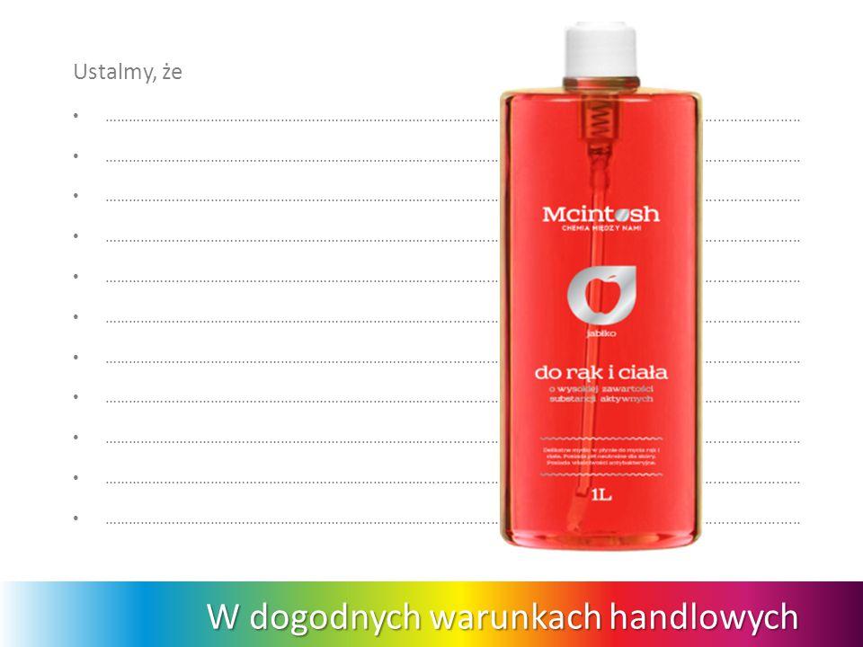 Solidny biznes z wartościową marką Dobra chemia między ludźmi sprawia, że produkty pachną sukcesem.
