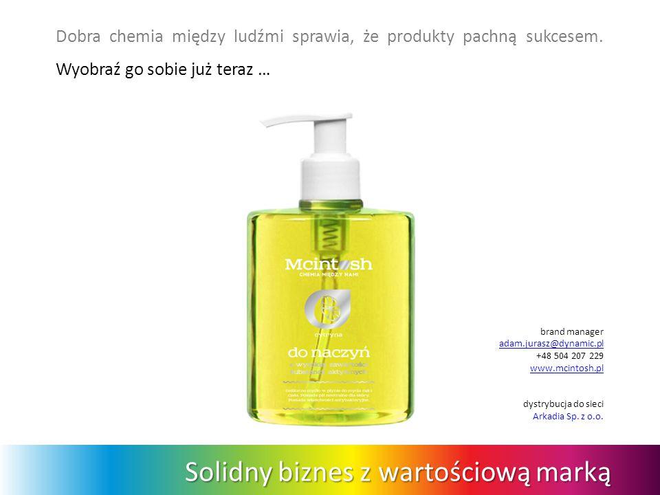 Solidny biznes z wartościową marką Dobra chemia między ludźmi sprawia, że produkty pachną sukcesem. Wyobraź go sobie już teraz … brand manager adam.ju