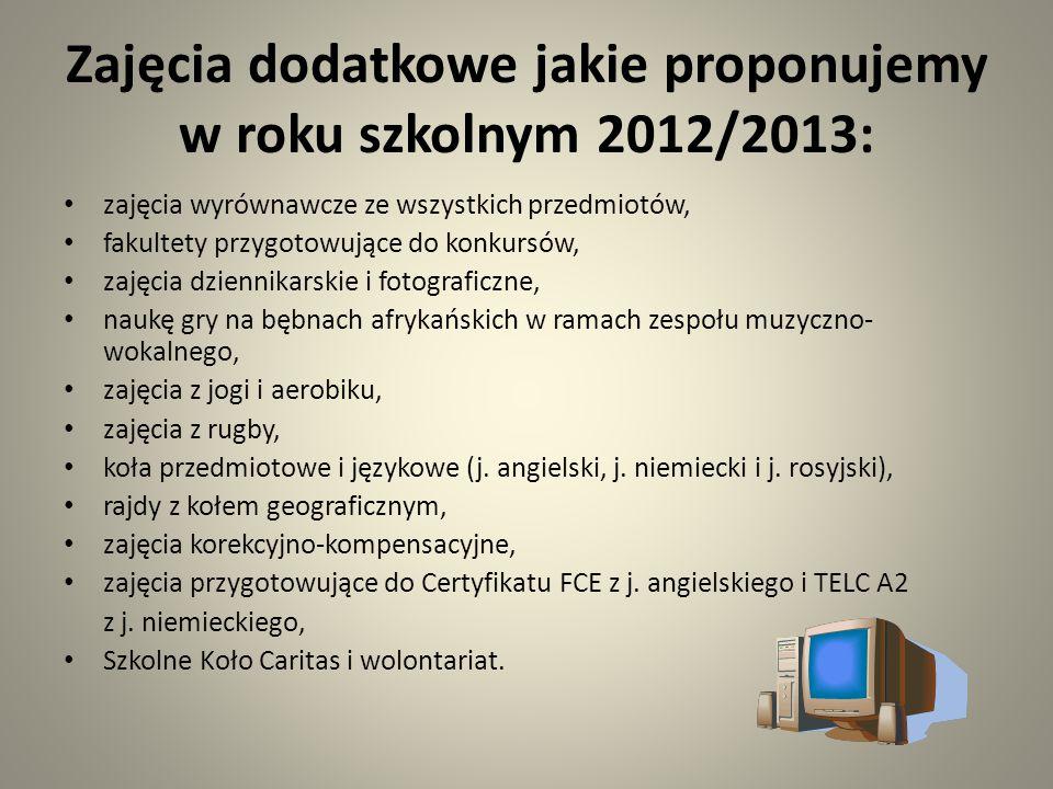 """Realizujemy projekty: Projekt """"Szkoły patronackie wspólnie ze szkołą w Miednikach na Litwie; Projekt """"Junior Media – młodzi dziennikarze próbują swoich sił w gazecie internetowej; Szkoła przyjazna uczniom z dysleksją – zasady oceniania są dostosowane do możliwości uczniów z dysfunkcjami; Szkoła promująca zdrowie – poprzez zajęcia i warsztaty, promujemy wśród uczniów zdrowy tryb życia; e-Akademia Przyszłości."""