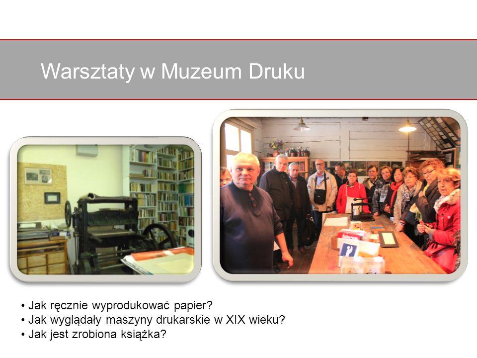 Warsztaty w Muzeum Druku Jak ręcznie wyprodukować papier.