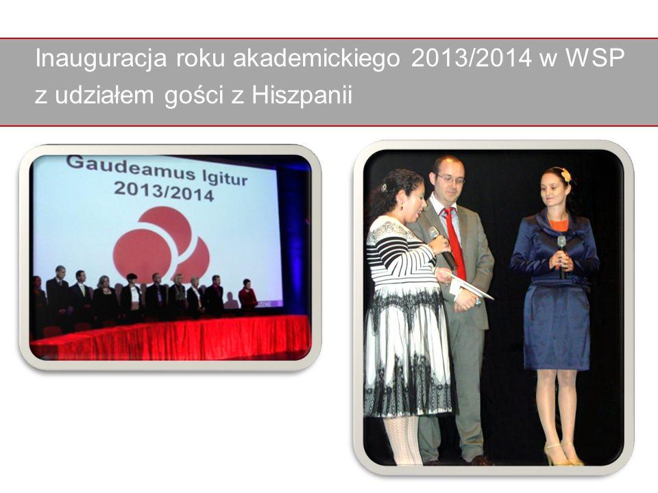 Inauguracja roku akademickiego 2013/2014 w WSP z udziałem gości z Hiszpanii