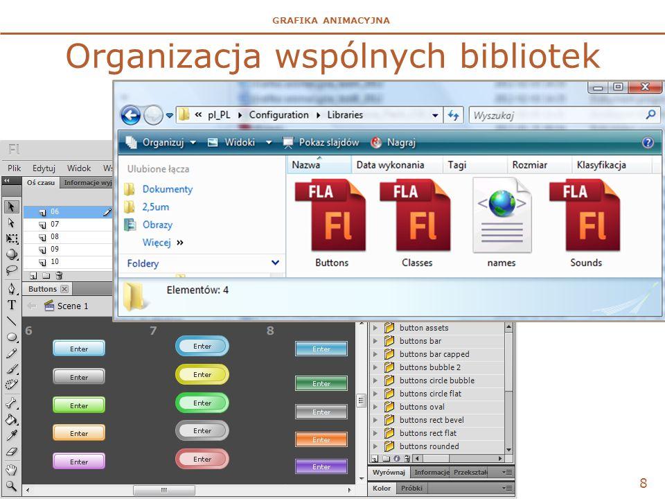 GRAFIKA ANIMACYJNA Organizacja wspólnych bibliotek 8