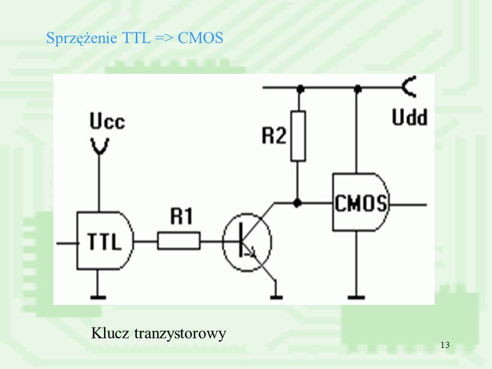 13 Sprzężenie TTL => CMOS Klucz tranzystorowy