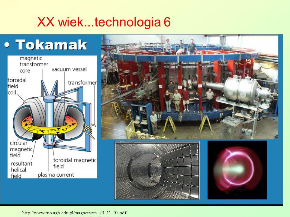 http://www.tuo.agh.edu.pl/magnetyzm_23_11_07.pdf XX wiek...technologia 6