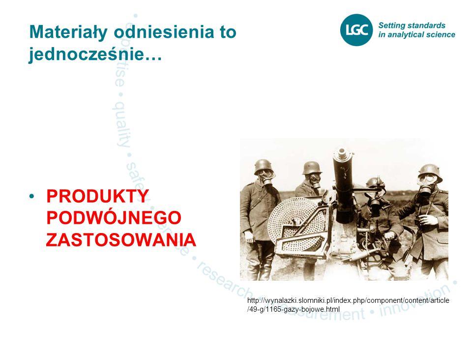 Materiały odniesienia to jednocześnie… PRODUKTY PODWÓJNEGO ZASTOSOWANIA http://wynalazki.slomniki.pl/index.php/component/content/article /49-g/1165-gazy-bojowe.html