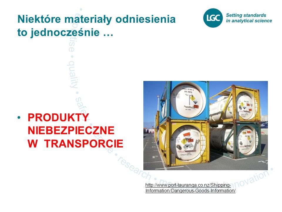 Niektóre materiały odniesienia to jednocześnie … PRODUKTY NIEBEZPIECZNE W TRANSPORCIE http://www.port-tauranga.co.nz/Shipping- Information/Dangerous-Goods-Information/