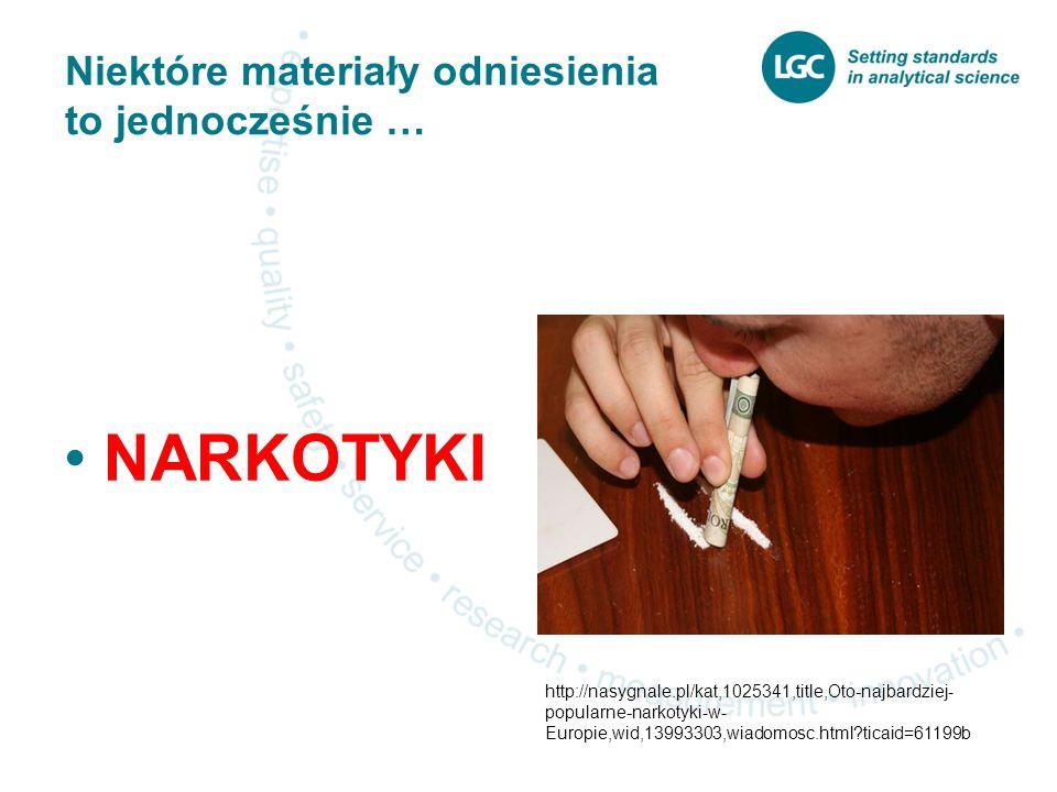 Narkotyki W Polsce (i niektórych innych krajach) kontrolowane są nie tylko czyste związki, ale także roztwory i materiały matrycowe zawierające substancje o działaniu narkotycznym nawet w śladowych ilościach Schemat postępowania: zezwolenie na import – zezwolenie na eksport w kraju eksportera – rejestracja transakcji Okresowe sporządzanie raportów