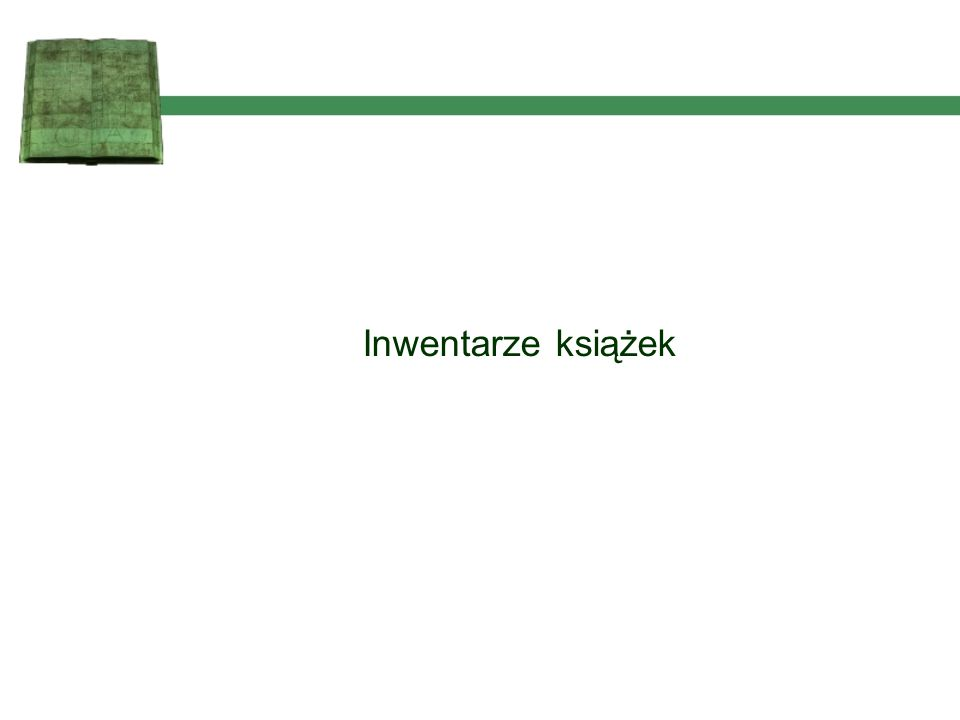 wprowadzanie danych do katalogu online bibliotek UW zamawianie inwentarza przygotowywanie danych do wydruku wydruk inwentarza docelowego Etapy powstania inwentarza