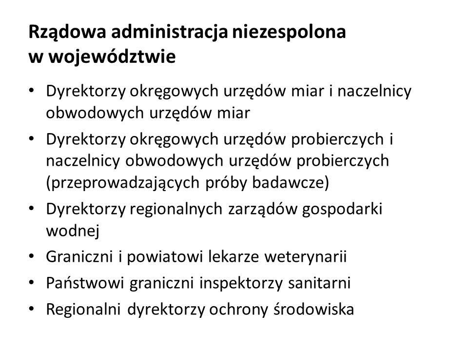 Rządowa administracja niezespolona w województwie Dyrektorzy okręgowych urzędów miar i naczelnicy obwodowych urzędów miar Dyrektorzy okręgowych urzędó