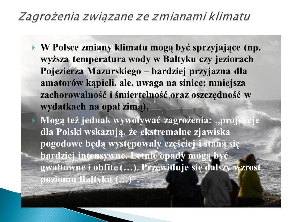  W Polsce zmiany klimatu mogą być sprzyjające (np. wyższa temperatura wody w Bałtyku czy jeziorach Pojezierza Mazurskiego – bardziej przyjazna dla am