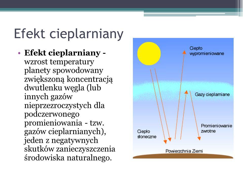 Globalne ocieplenie Globalne ocieplenie to zjawisko polegające na wzroście średnich temperatur na powierzchni Ziemi.