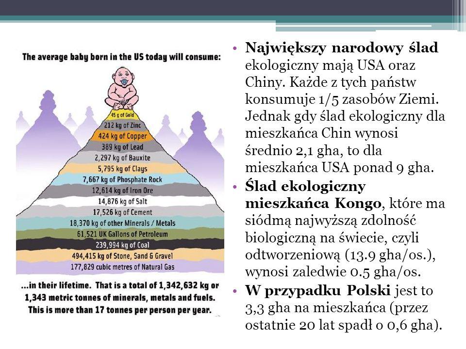 Mapa świata wg śladu ekologicznego Mitygacja wydaje się wręcz niezbędna… /Jakob Arnoldi, Ryzyko, Sic!, Warszawa 2011/