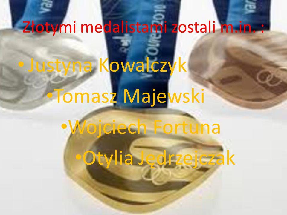 Polscy sportowcy Do najwybitniejszych polskich sportowców zaliczają się: Adam Małysz Justyna Kowalczyk Paweł Korzeniowski Jerzy Dudek Otylia Jędrzejczak Tomasz Golob Tomasz Majewski Karol Bielecki