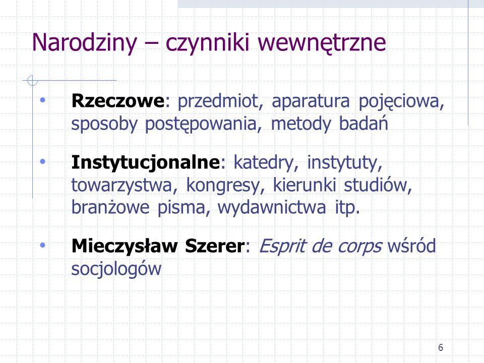 27 Socjologia medycyny Co w tak rozumianej medycynie może być interesujące dla socjologii ?