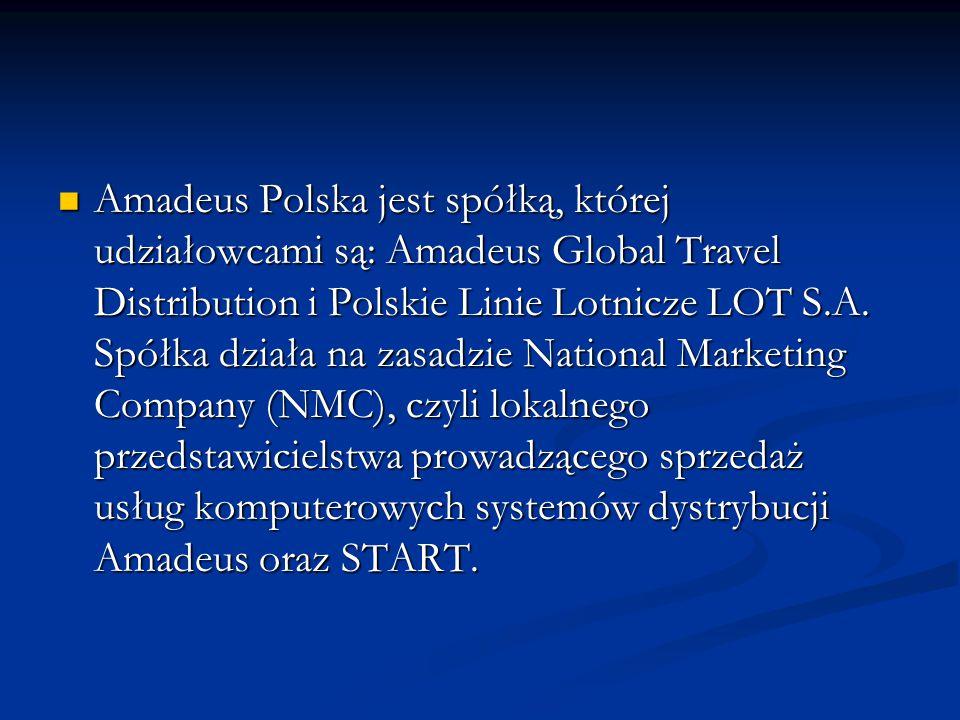 Amadeus Polska jest spółką, której udziałowcami są: Amadeus Global Travel Distribution i Polskie Linie Lotnicze LOT S.A. Spółka działa na zasadzie Nat