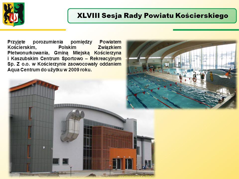 Przyjęte porozumienia pomiędzy Powiatem Kościerskim, Polskim Związkiem Płetwonurkowania, Gminą Miejską Kościerzyna i Kaszubskim Centrum Sportowo – Rek