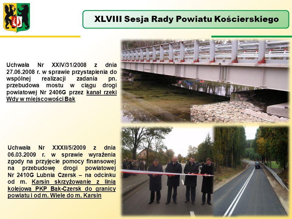 Uchwała Nr XXIV/31/2008 z dnia 27.06.2008 r. w sprawie przystapienia do wspólnej realizacji zadania pn. przebudowa mostu w ciągu drogi powiatowej Nr 2