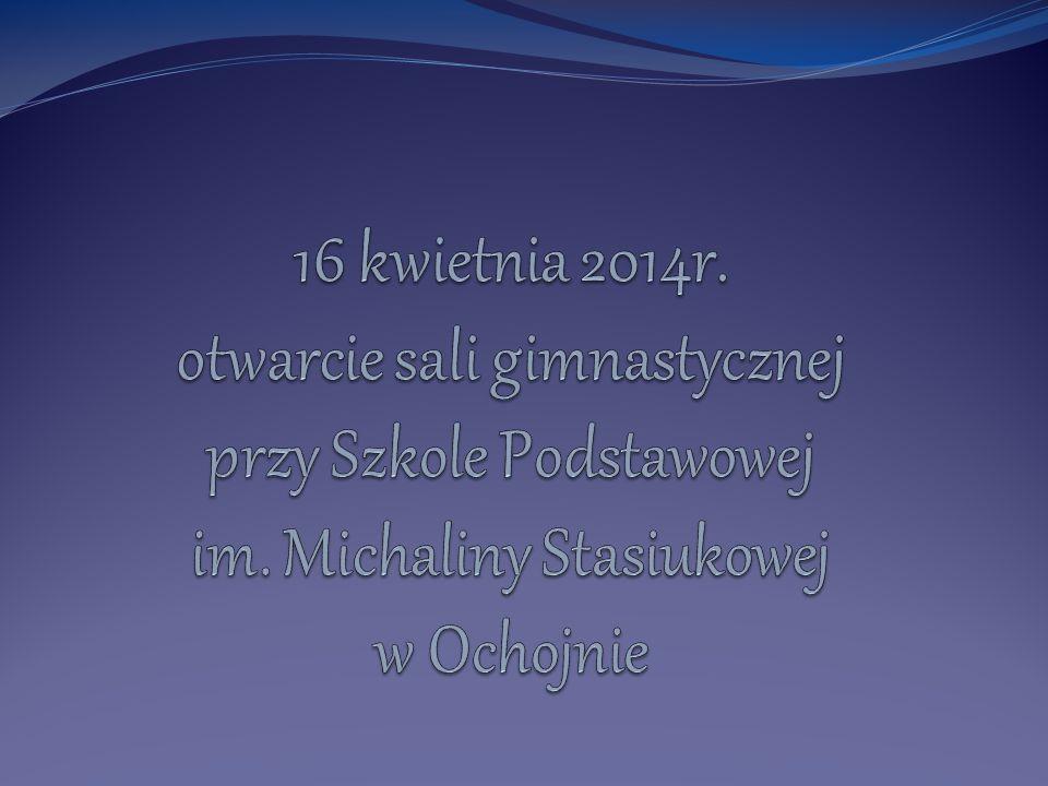 Szanowni Państwo, w środę 16 kwietnia 2014r.spełniły się marzenia wielu osób Szkoła Podstawowa im.
