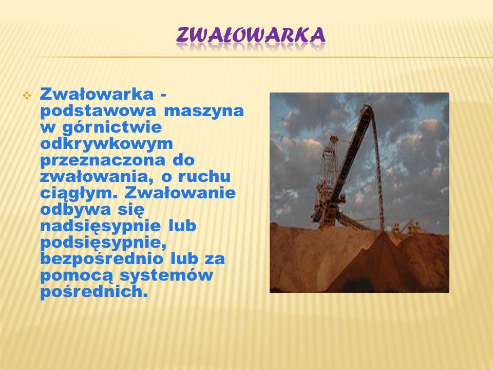  Zwałowarka - podstawowa maszyna w górnictwie odkrywkowym przeznaczona do zwałowania, o ruchu ciągłym. Zwałowanie odbywa się nadsięsypnie lub podsięs