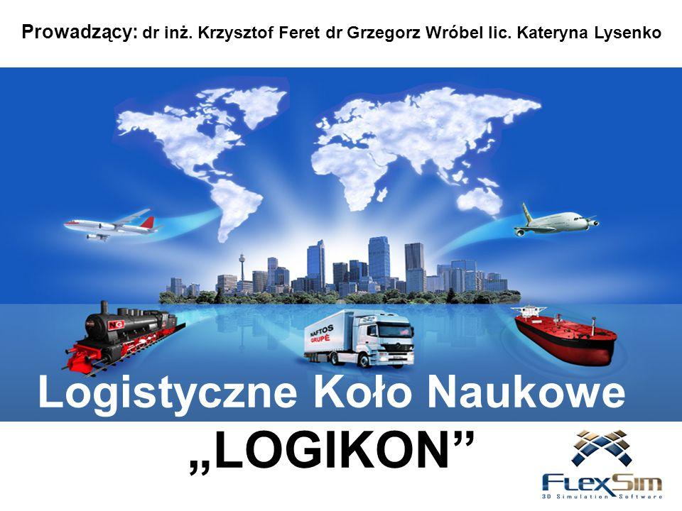 """Logistyczne Koło Naukowe """"LOGIKON"""" Prowadzący: dr inż. Krzysztof Feret dr Grzegorz Wróbel lic. Kateryna Lysenko"""