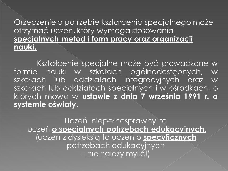 - zaburzenia orientacji przestrzennej, - niski poziom sprawności grafomotorycznej, - słaba koncentracja uwagi, -liczne i nasilone wady wymowy, - wolniejsze tempo pracy, - zaburzenia rozumienia znaczenia wypowiedzi, - zaburzenia analizy i syntezy ( wzrokowej słuchowej, wzrokowo – słuchowej), - trudności w rozpoznawaniu liter oraz w czytaniu, - trudności w rozumieniu przeczytanego tekstu, - istotnie zaburzony poziom rozumienia wszelkich reguł, zasad, definicji, - utrudnione tworzenie pojęcia liczby, - ograniczenia procesów pamięciowych,