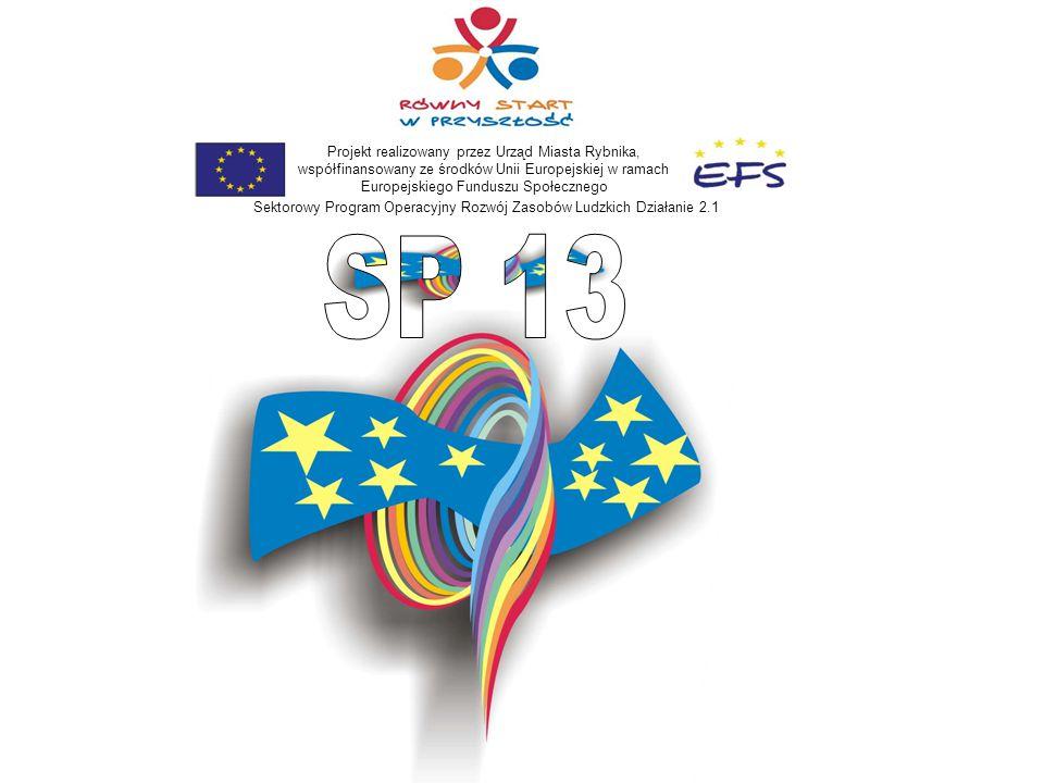 Projekt realizowany przez Urząd Miasta Rybnika, współfinansowany ze środków Unii Europejskiej w ramach Europejskiego Funduszu Społecznego Sektorowy Program Operacyjny Rozwój Zasobów Ludzkich Działanie 2.1