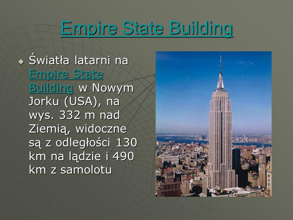 Empire State Building Empire State Building  Światła latarni na Empire State Building w Nowym Jorku (USA), na wys.
