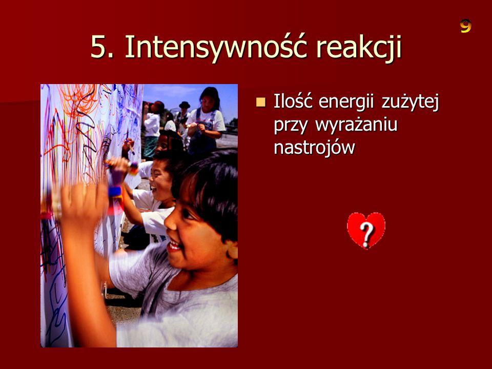 4.Zdolność do przystosowania się Szybkość i łatwość z jaką zachowanie dziecka zmienia się w odpowiedzi na zmianę otoczenia. Szybkość i łatwość z jaką