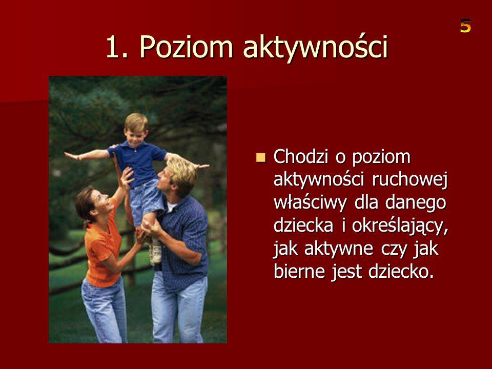 Wrodzone składniki temperamentu Kształtowanie się osobowości dziecka określone jest nie tylko przez warunki stworzone mu w domu, ale również przez jeg