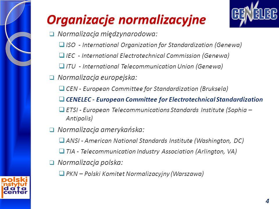Organizacje normalizacyjne  Normalizacja międzynarodowa:  ISO - International Organization for Standardization (Genewa)  IEC - International Electr