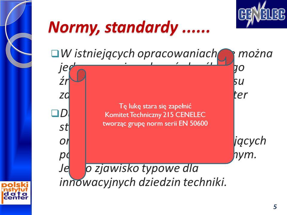 Normy, standardy......  W istniejących opracowaniach nie można jednoznacznie wskazać określonego źródła normalizacji pełnego zakresu zagadnień związa