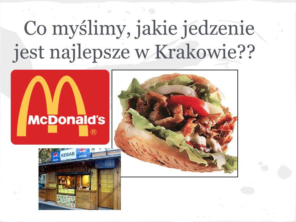 Co myślimy, jakie jedzenie jest najlepsze w Krakowie??