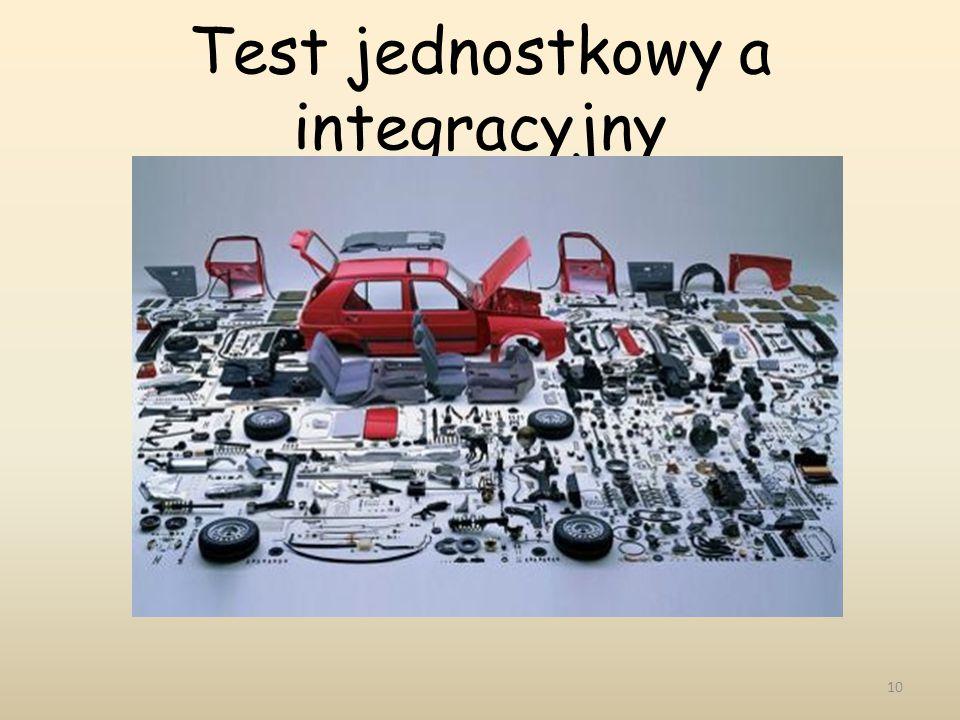 Test jednostkowy a integracyjny 10