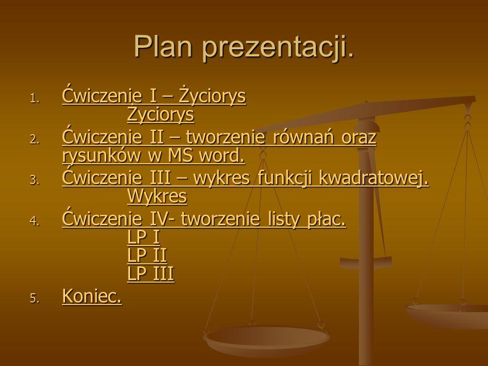 Plan prezentacji. 1.