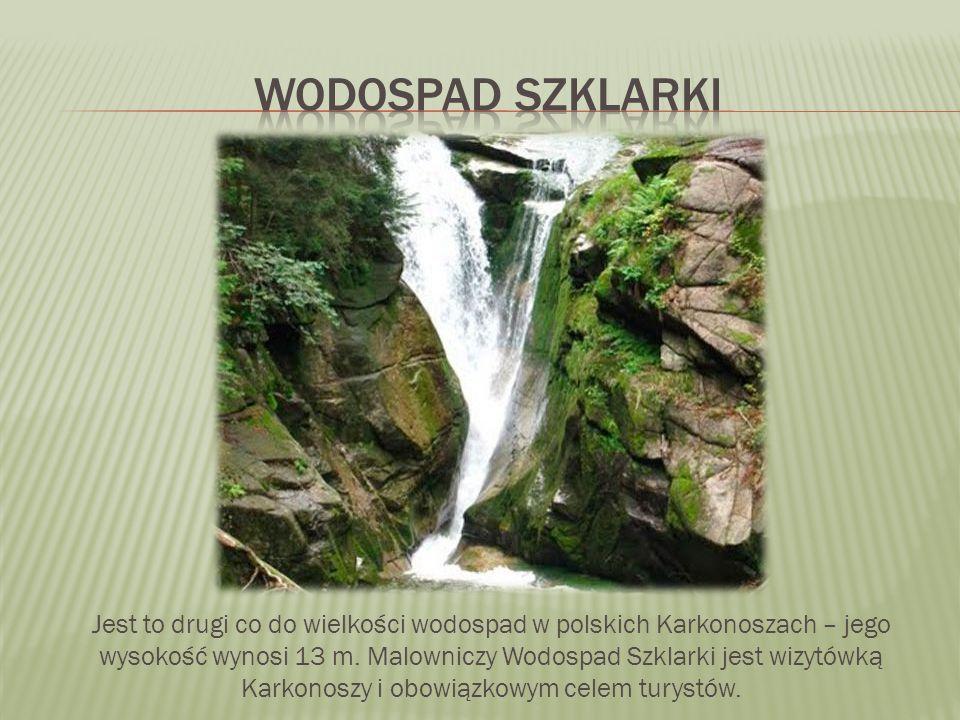 Jest to drugi co do wielkości wodospad w polskich Karkonoszach – jego wysokość wynosi 13 m.