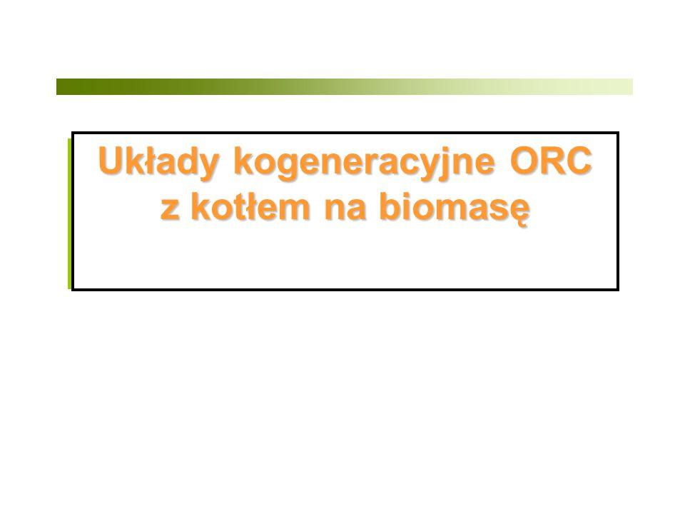 Układy kogeneracyjne ORC z kotłem na biomasę