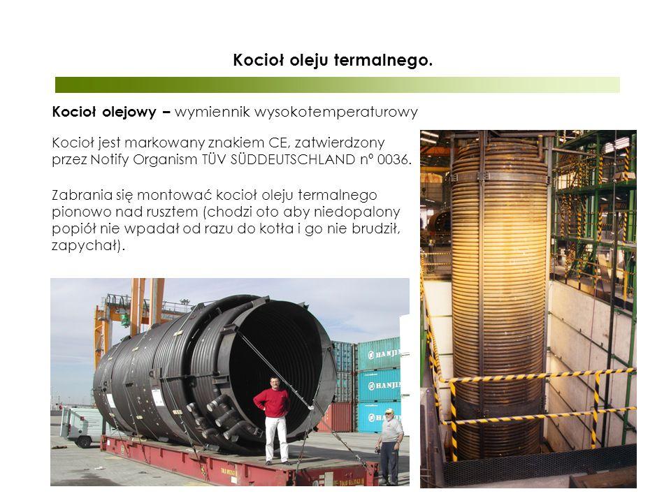 Kocioł olejowy – wymiennik wysokotemperaturowy Kocioł oleju termalnego.