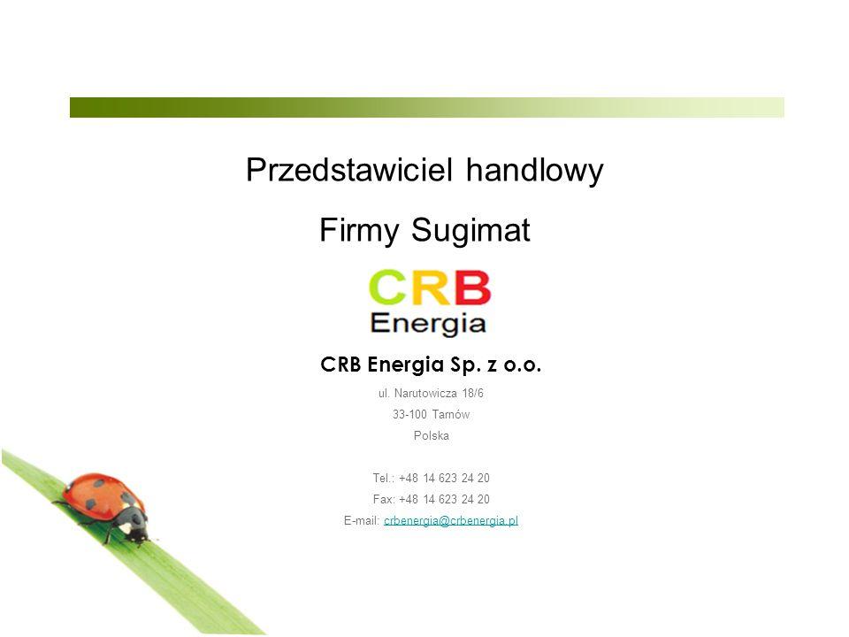 Przedstawiciel handlowy Firmy Sugimat CRB Energia Sp.
