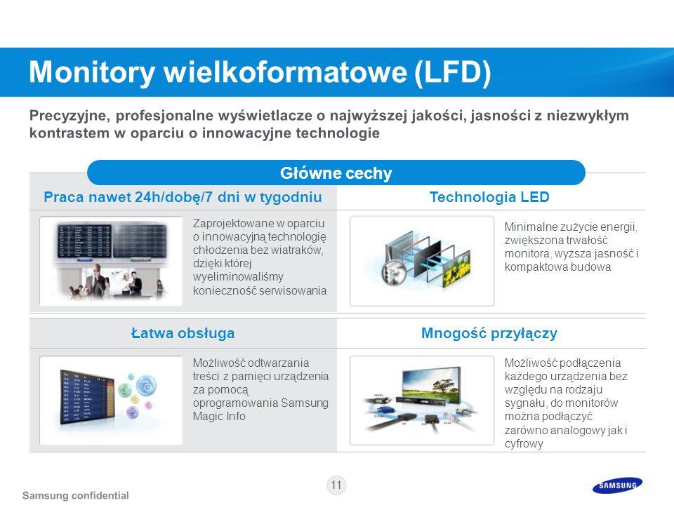11 Łatwa obsługaMnogość przyłączy Praca nawet 24h/dobę/7 dni w tygodniuTechnologia LED Główne cechy Zaprojektowane w oparciu o innowacyjną technologię