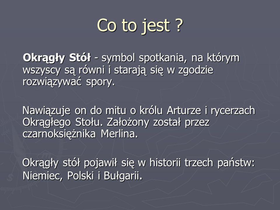 Okrągły Stół (historia Polski) Okrągły Stół – negocjacje prowadzone od 6 lutego do 5 kwietnia 1989 przez przedstawicieli władz PRL, opozycji solidarnościowej oraz kościelnej (status obserwatora –Kościół Ewangelicko-Augsburski oraz Kościół rzymskokatolicki).