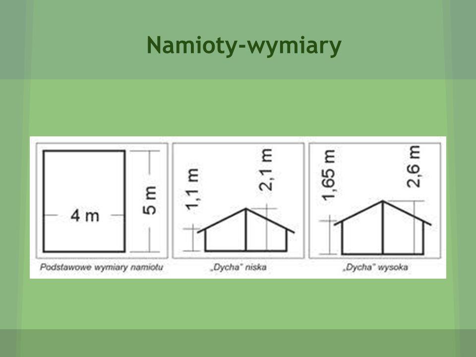 Namioty-wymiary