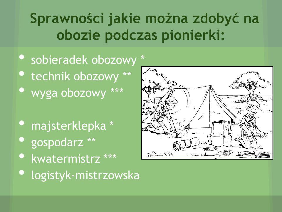 Zdobnictwo obozowe Zdobnictwo obozowe jest ważnym elementem dobrze zorganizowanego obozu harcerskiego, w znacznym stopniu decyduje też o jego estetyce i funkcjonalności.