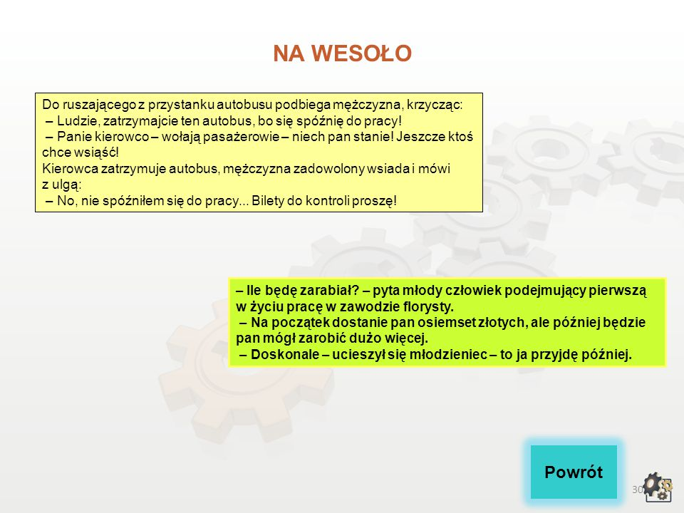 29 Akty prawne: 1.Rozporządzenie Ministra Pracy i Polityki Społecznej z dnia 27 kwietnia 2010 r. w sprawie klasyfikacji zawodów i specjalności na pot
