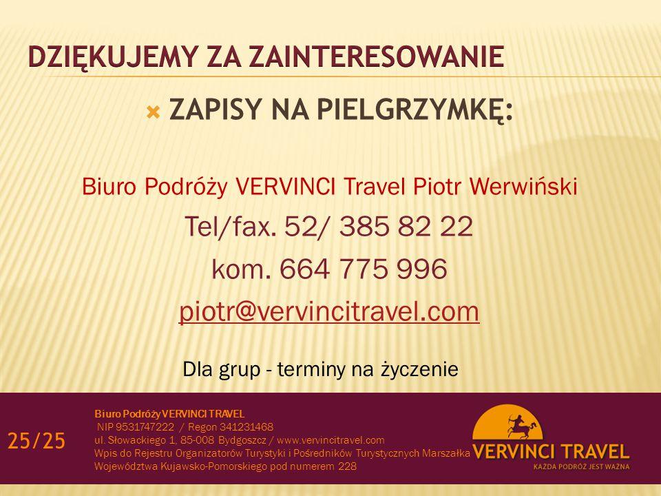 24/25INFORMACJE  CENA: 8950 zł/os.