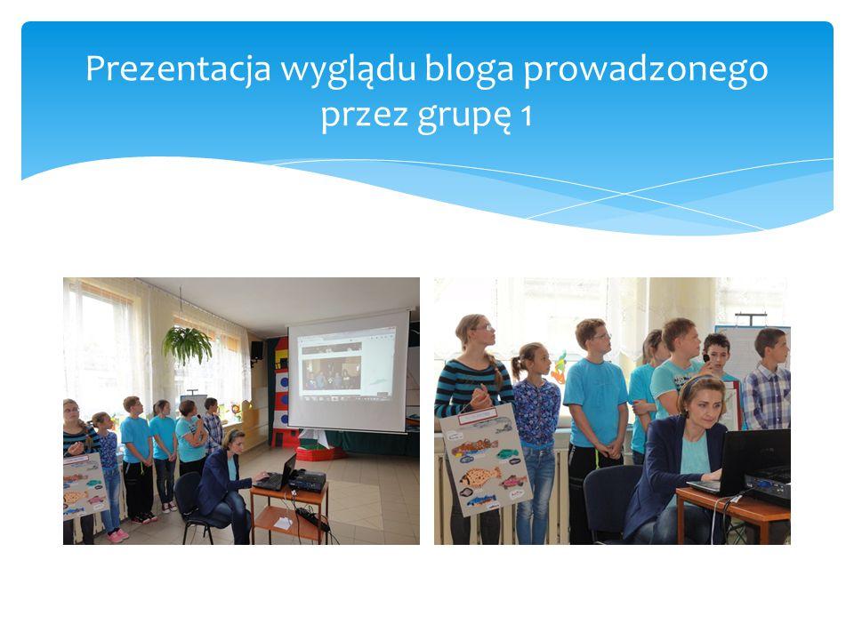 Prezentacja wyglądu bloga prowadzonego przez grupę 1