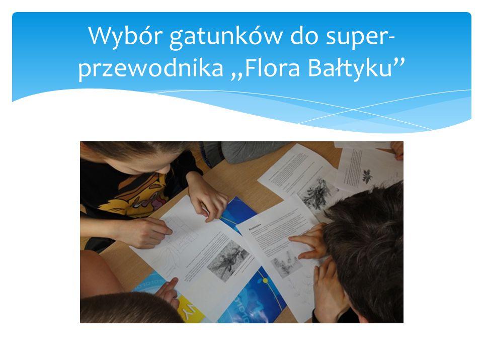 """Wybór gatunków do super- przewodnika """"Flora Bałtyku"""""""