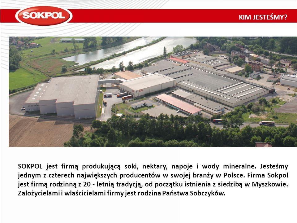 SOKPOL jest firmą produkującą soki, nektary, napoje i wody mineralne. Jesteśmy jednym z czterech największych producentów w swojej branży w Polsce. Fi