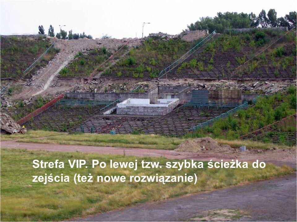 Strefa VIP. Po lewej tzw. szybka ścieżka do zejścia (też nowe rozwiązanie)