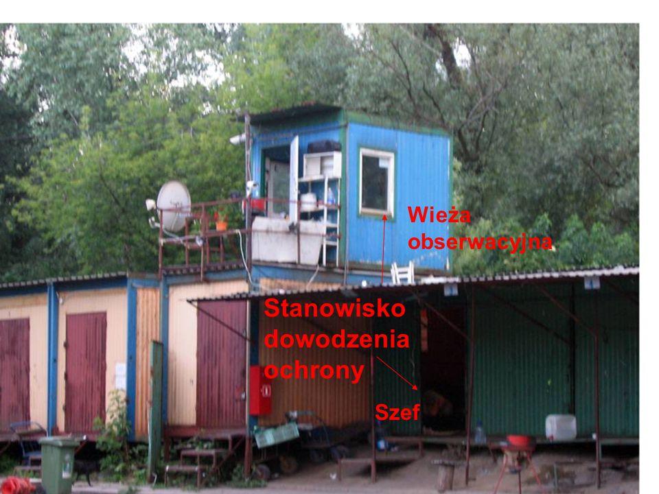 Stanowisko dowodzenia ochrony Szef Wieża obserwacyjna