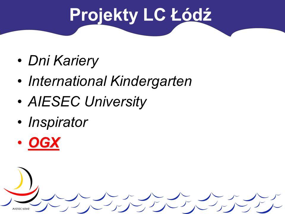 Projekty LC Łódź Dni Kariery International Kindergarten AIESEC University Inspirator OGXOGX